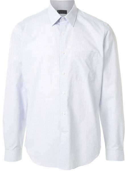 Синяя классическая классическая рубашка с воротником с манжетами D'urban