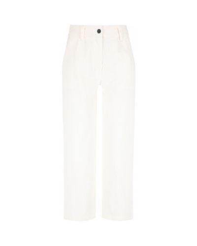 Хлопковые белые брюки свободного кроя Protest