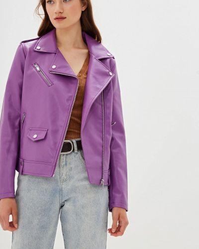 Кожаная куртка - фиолетовая Nice & Chic