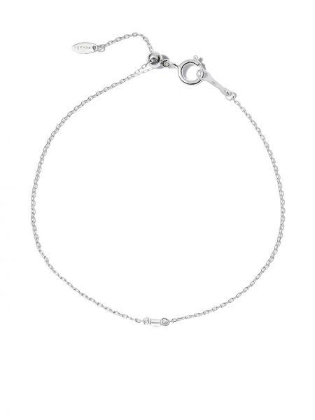 Biała bransoletka srebrna Persée