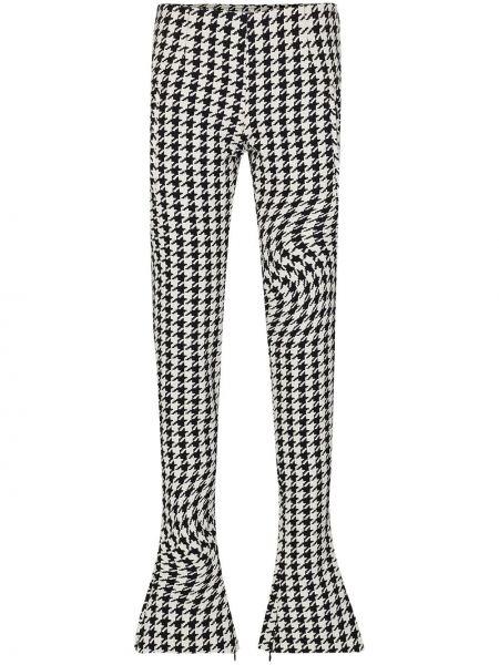 Spodni zawężony biały spodnie z wiskozy Off-white