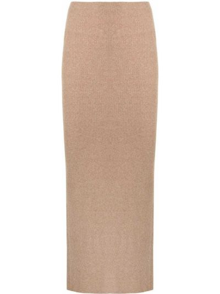 С завышенной талией трикотажная вязаная юбка миди Manning Cartell