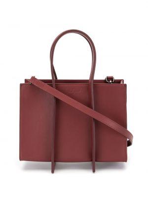 Кожаная красная кожаная сумка на молнии с карманами Discord Yohji Yamamoto