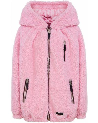 Акриловая розовая куртка с мехом оверсайз Miu Miu