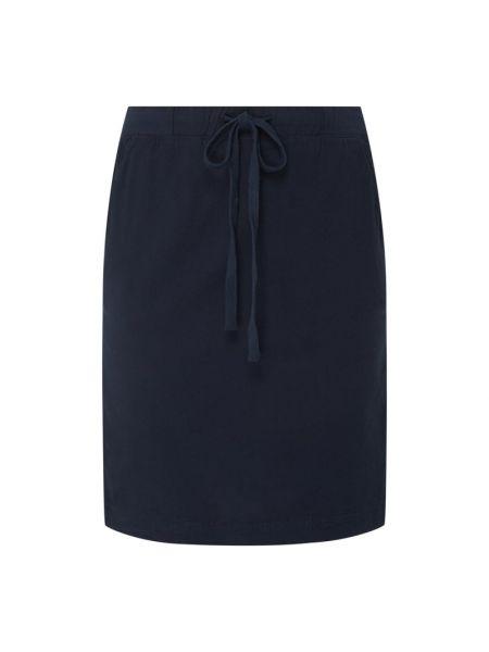 Niebieska spódnica rozkloszowana bawełniana Kaffe