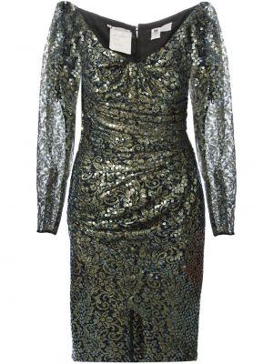 Прямое ажурное платье с пайетками винтажное Emanuel Ungaro Pre-owned