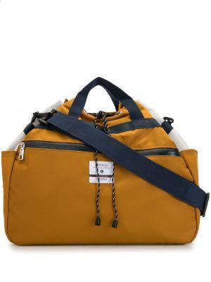 Желтая нейлоновая сумка на плечо с завязками с карманами As2ov