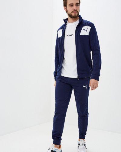 Синий костюмный спортивный костюм Puma