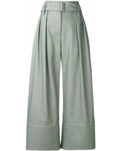 Укороченные брюки зеленый расклешенные Eudon Choi