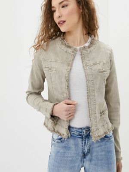 Бежевая облегченная куртка B.style