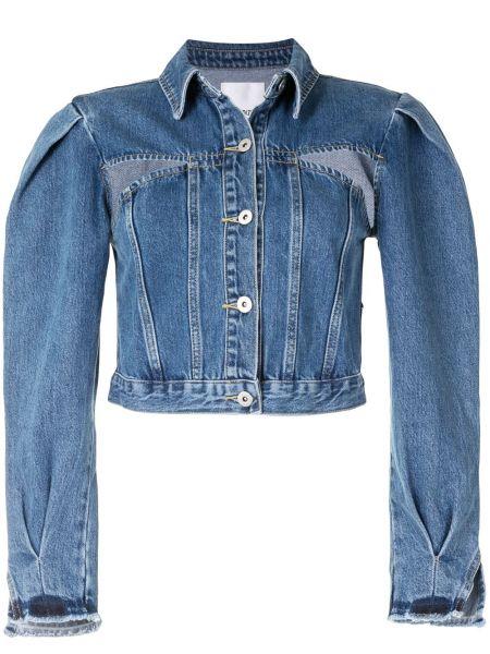 Хлопковая синяя джинсовая куртка с разрезом Ground Zero