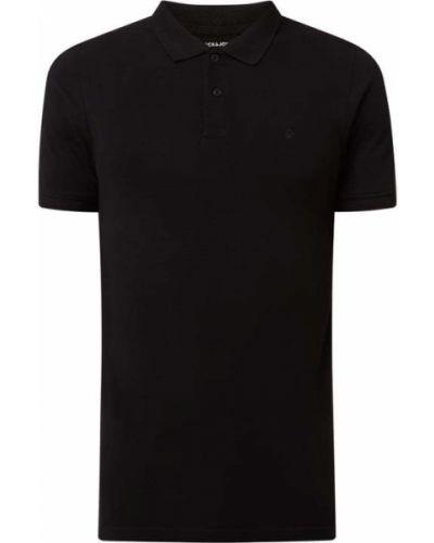 Czarna koszulka z haftem Jack & Jones
