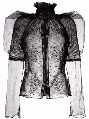 Czarna bluzka z długimi rękawami Tom Ford