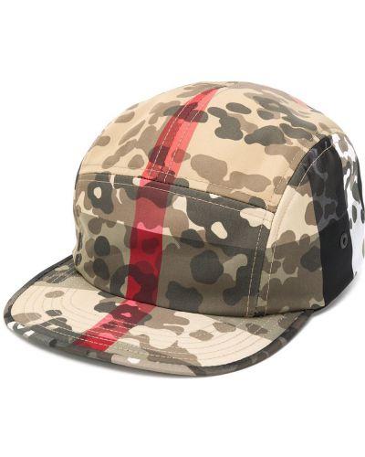 Baseball beżowy czapka z paskami Burberry