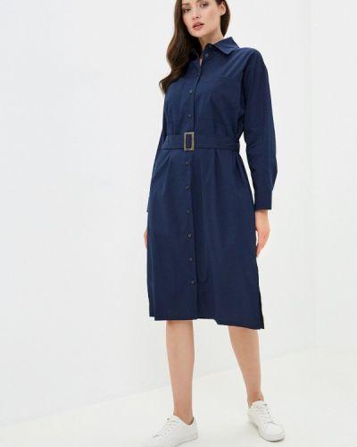 Базовое синее платье Base Forms