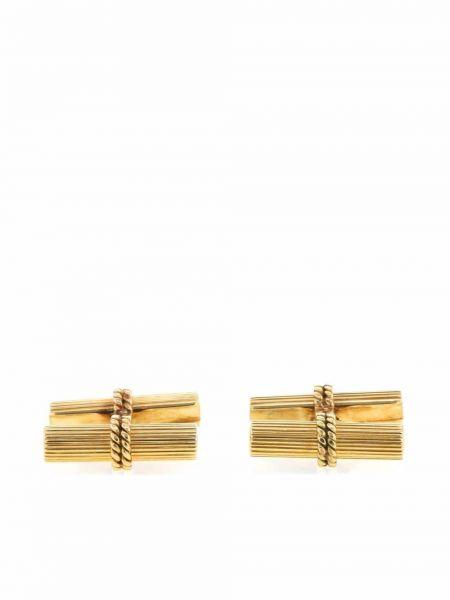 Złote spinki do mankietów - żółte Van Cleef & Arpels Pre-owned