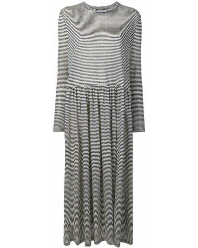 Платье миди в полоску - синее Max Mara Studio
