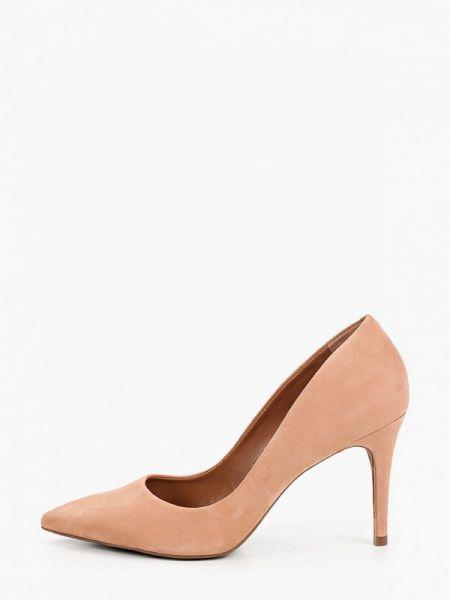 Розовые велюровые туфли-лодочки Arezzo
