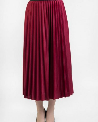 Плиссированная юбка бордовый итальянский Intrico