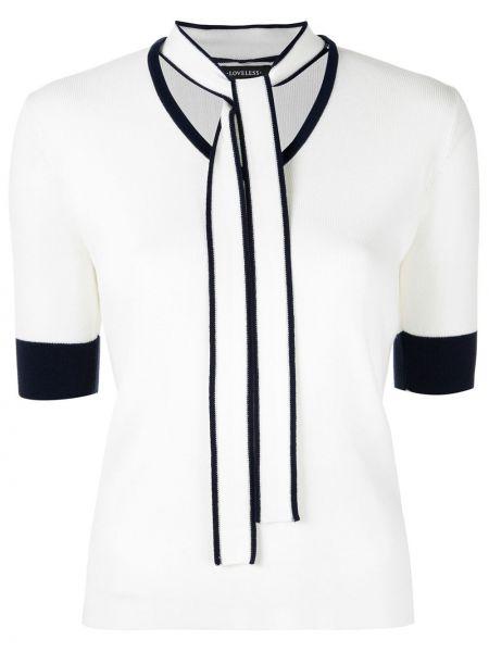 Biały krótkie szorty krótki rękaw bawełniany Loveless