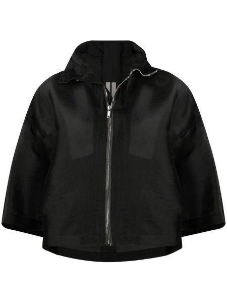 Czarna kurtka z jedwabiu Rick Owens