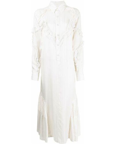 Белое платье макси длинное Toga Pulla
