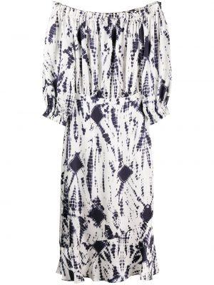 Платье миди с открытыми плечами с рукавами Essentiel Antwerp