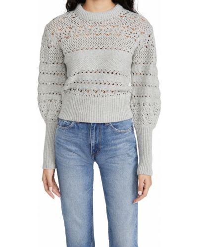 Prążkowany pulower wełniany z długimi rękawami Rag & Bone