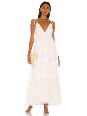 Вечернее платье с бахромой - белое Rococo Sand
