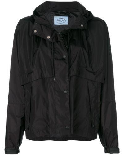 Куртка с капюшоном длинная Prada
