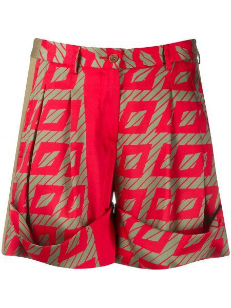 Красные шорты на молнии Jejia