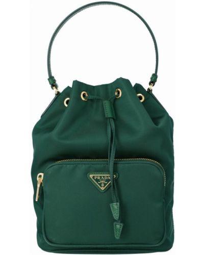 Zielona torba na ramię Prada