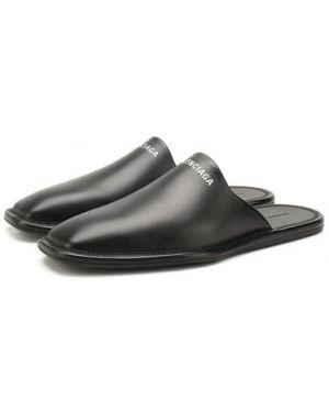 Сабо кожаные черный Balenciaga