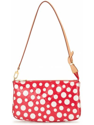 Кожаная красная маленькая сумка винтажная Louis Vuitton