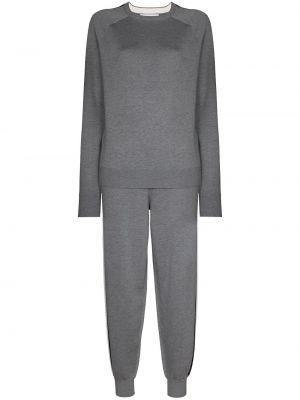 Кашемировый серый спортивный костюм эластичный Olivia Von Halle