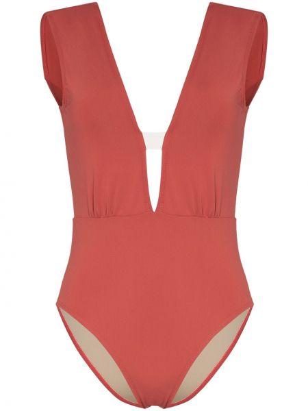 Розовый купальник с вырезом без рукавов Beth Richards