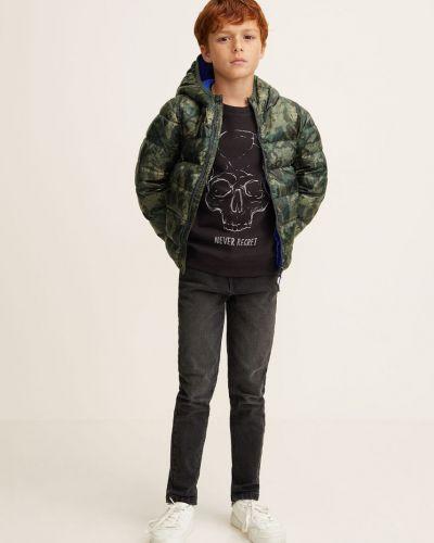 Куртка с капюшоном стеганая Mango Kids