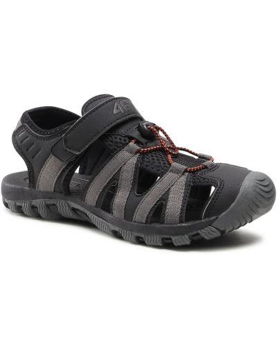 Czarne sandały na lato 4f