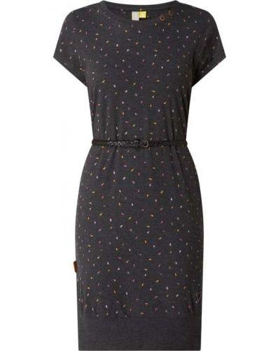Sukienka mini bawełniana - czarna Alife And Kickin