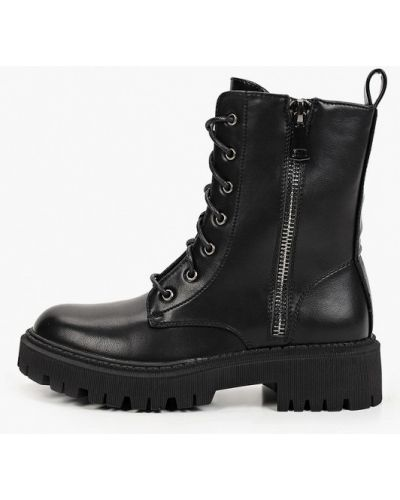 Черные кожаные ботинки Sweet Shoes