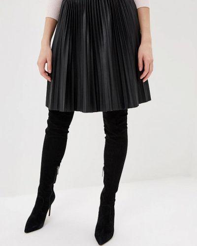 Кожаная юбка черная Love Republic
