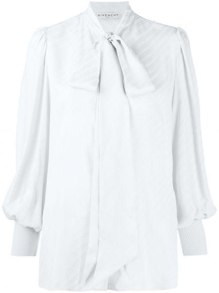 Niebieski prosto bluzka z wiskozy Givenchy