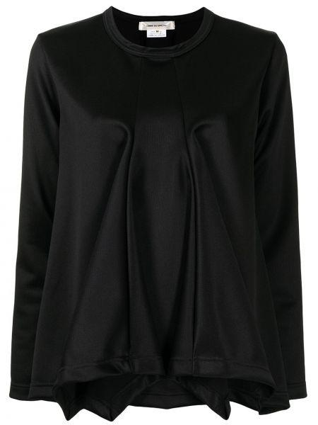 Czarny top z długimi rękawami rozkloszowany Comme Des Garcons