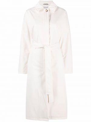 Klasyczny biały długi płaszcz z wiskozy 12 Storeez