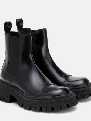 Кожаные ботинки челси - черные Balenciaga