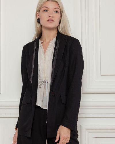Льняной пиджак - черный Dolcedonna
