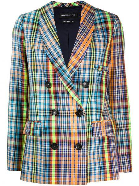С рукавами синий классический пиджак с карманами Department 5