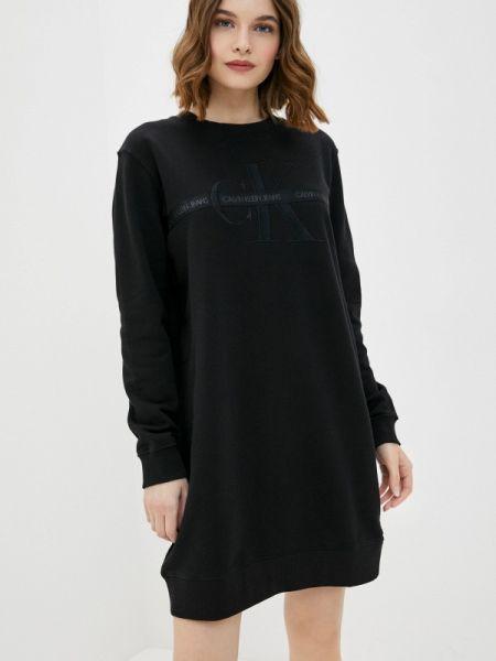 Черное джинсовое платье Calvin Klein Jeans