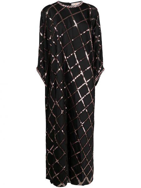 Вечернее платье с пайетками - черное Tory Burch