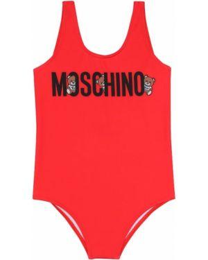 Strój kąpielowy z logo kostium Moschino Kids